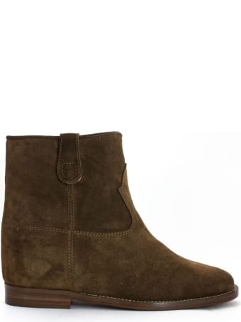 Via Roma 15 Brown Suede Ankle Boots