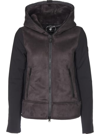 Save the Duck Save The Duck Down Grey Jacket With Eco-suede