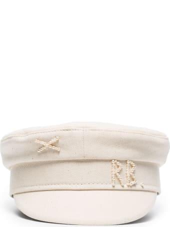 Ruslan Baginskiy Cotton Baker Hat With Pearls Logo