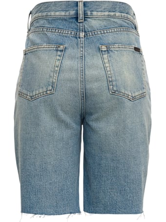Saint Laurent Denim Straight Bermuda