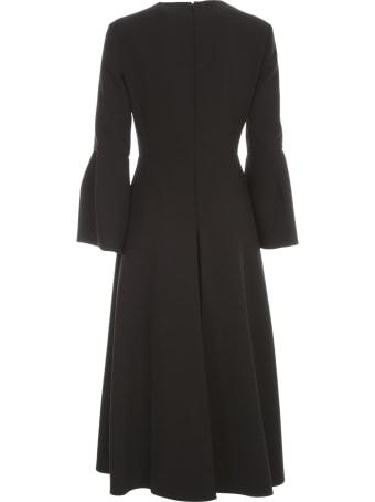 Mantù Dress L/s Crew Neck W/a Line Skirt