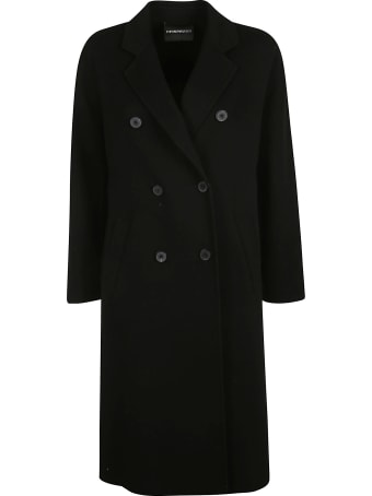 Emporio Armani Double Breasted Classic Long Coat
