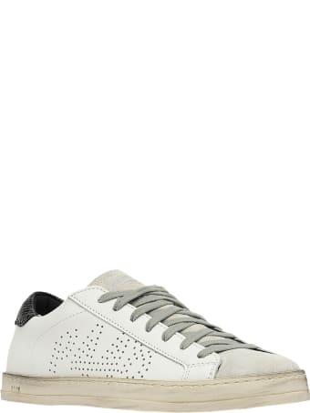 P448 S20john-w White Leather John Sneakers