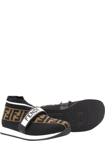 Fendi Kids Sneakers Without Laces Ff
