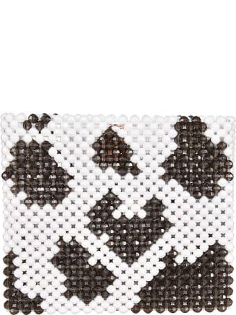 Susan Alexandra Cow Pattern Beaded Tote