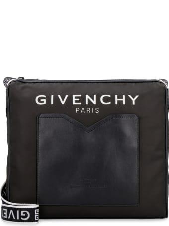 Givenchy Leather And Nylon Messenger Bag