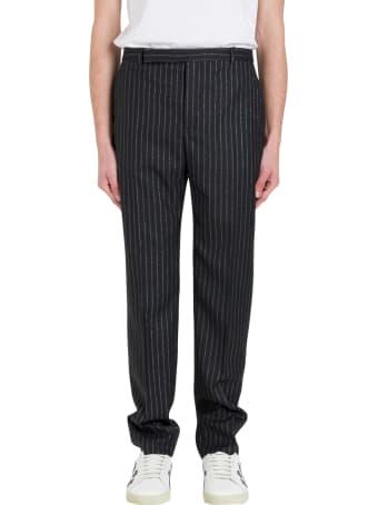 Saint Laurent Lurex Pinstripe Trousers