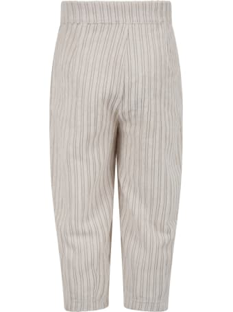 """Caffe' d'Orzo Ivory """"vera"""" Trousers For Girl"""