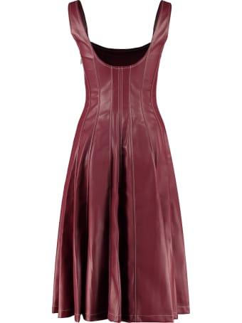 STAUD Wells Leather Dress