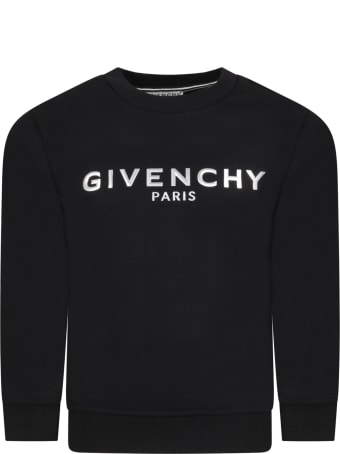 Givenchy Black Sweatshirt For Kids With Logo