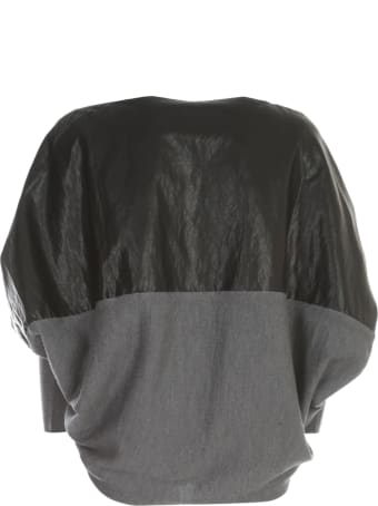 PierAntonioGaspari Faux Leather Sweater