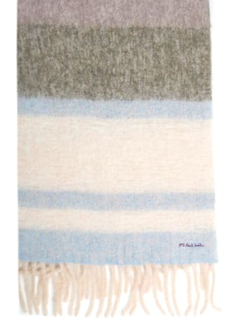 PS by Paul Smith Scarf W/stripes And Fringes