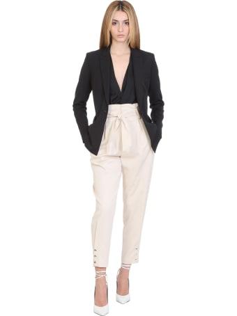IRO Borcie Pants In Beige Cotton