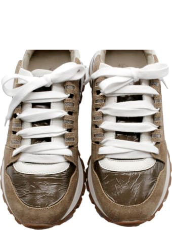 Brunello Cucinelli Suede And Nylon Sneakers