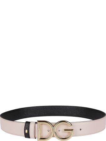 Dolce & Gabbana Blush Pink Leather Belt