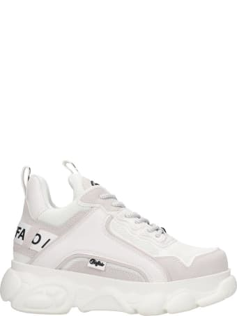 Buffalo Chain Sneakers In White Tech/synthetic