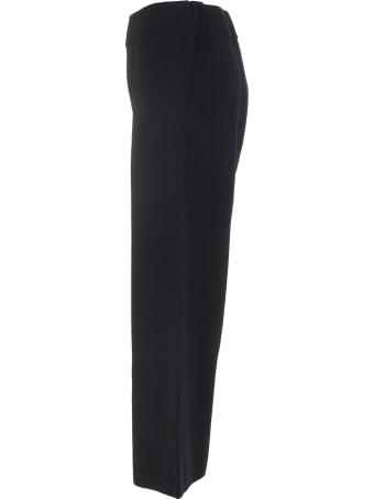 Fedeli Woman Crop Trousers In Black Wool