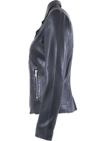 S.W.O.R.D 6.6.44 Black Lambskin Zip-up Biker Jacket