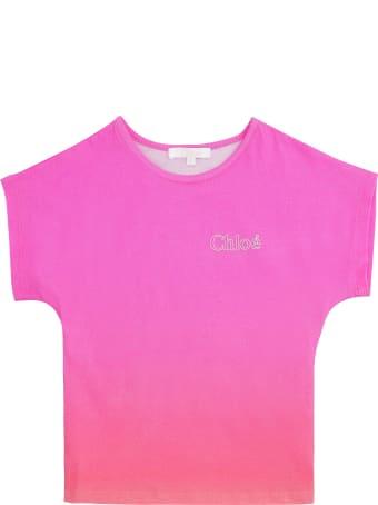 Chloé Gradient Effect Cotton T-shirt