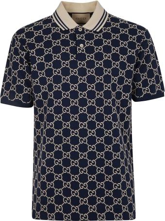 Gucci Logo Motif Polo Shirt
