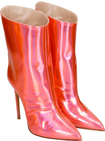 Alexandre Vauthier High Heels Ankle Boots In Red Leather