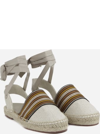 Loro Piana Espadrilles Made Of Cotton And Linen Canvas