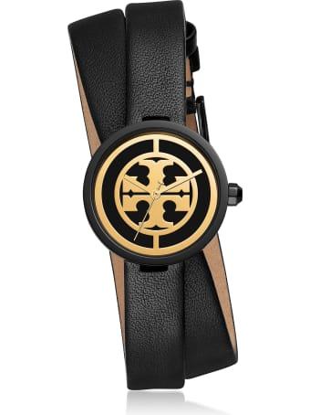 Tory Burch Reva Black Double Wrap Watch