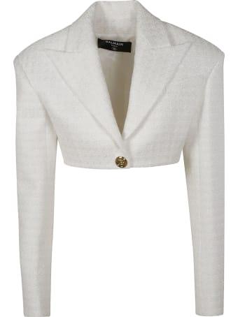 Balmain Single-button Cropped Blazer