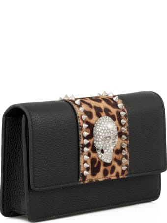 Philipp Plein Skull Crystal Shoulder Bag