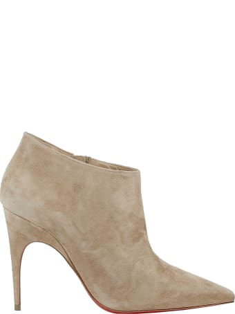 Christian Louboutin Beige Suede Ankle Boots