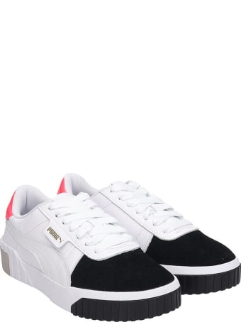 Puma Cali Remix Sneakers In White Leather
