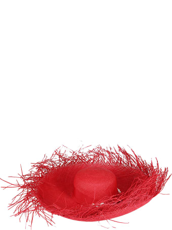 Sensi Studio Red Straw Hat