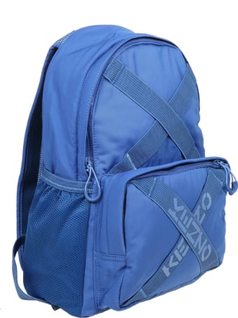 Kenzo Backpack In Cobalt Blue Fabric
