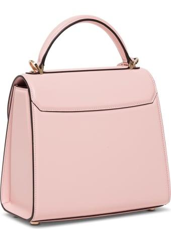 Salvatore Ferragamo Boxyz Handbag In Pink Leather