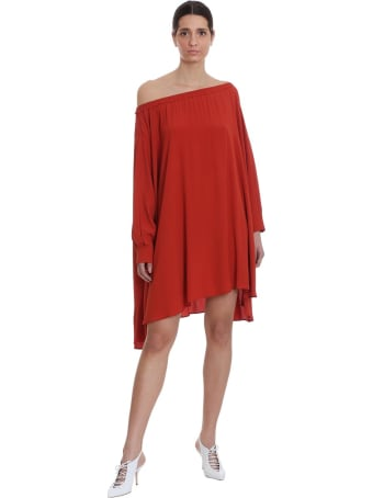 Mauro Grifoni Dress In Red Tech/synthetic