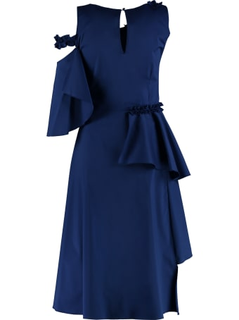 D.Exterior Poplin Midi Dress
