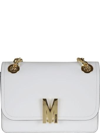 Moschino Flap Logo Plaque Shoulder Bag