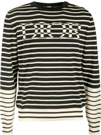 Christian Dior Logo Stripe Jumper