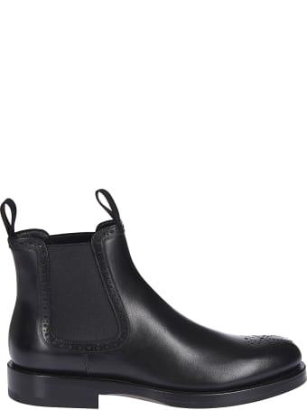 Santoni Pull Tab Ankle Boots