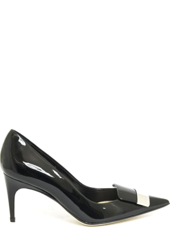 Sergio Rossi Black Patent Leather Pumps