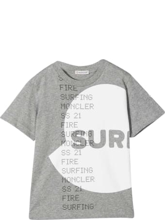 Moncler Grey T-shirt With White Print