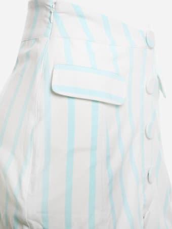 For Love & Lemons Stretch Linen Janelle Skirt With Striped Print