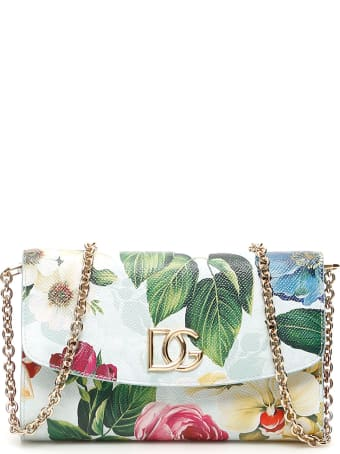 Dolce & Gabbana Flower Print Dg Millennials Mini Bag