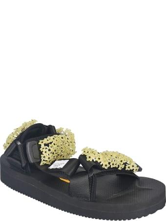 Cecilie Bahnsen Floral Applique Sandals