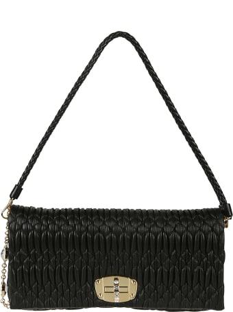 Miu Miu Crystal Embellished Shoulder Bag