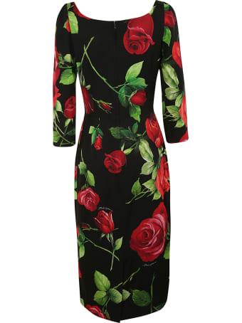 Dolce & Gabbana Rose Printed Dress