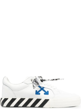 Off-White Man White And Black Low Vulcanized Sneakers