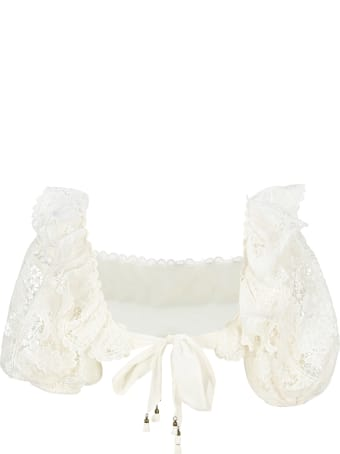 Zimmermann The Lulu Scallop Frill Top In Ivory