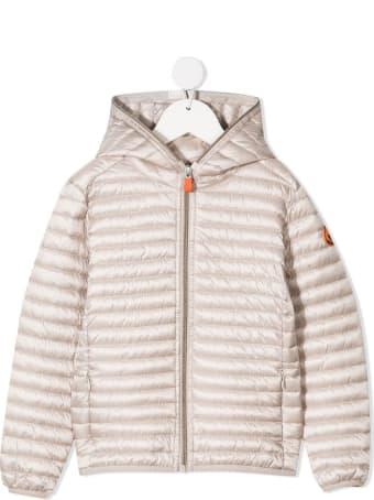 Save the Duck Iris Down Jacket In Beige Nylon