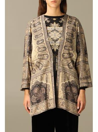 Etro Blazer Etro Kimono Jacket In Wool With Cashmere Print